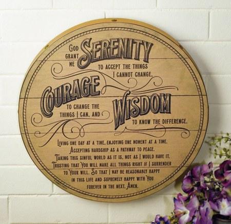 Serenity Wood Prayer Plaque (38cm)