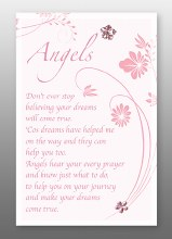 Angels Blessing Glass Plaque