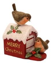 687773 Christmas Robin on Postbox 12cm