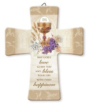 Symbolic First Holy Communion Porcelain Cross