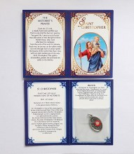 St Christopher Motorist's Prayer Relic Medal