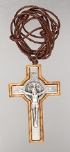 Genuine Olive Wood St Benedict Crucifix