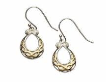 Sterling Silver Gold Plate Celtic Earring