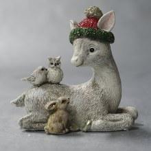 20548  Christmas Reindeer and Animals 10cm