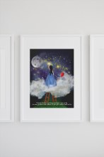 INSP001 Reach For the Stars Framed print