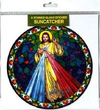 Divine Mercy Tiffany Style Sun catcher