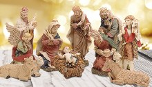 Tradional Nativity 11 Figures 30cm