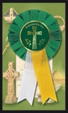 St Patrick Day Badge with Cross