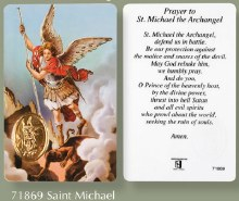Prayer to St Michael Prayercard