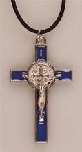 Blue St Benedict Crucifix (5cm)