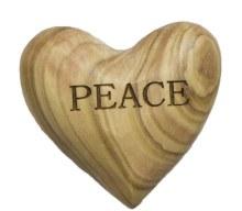 Peace Olive Wood Heart