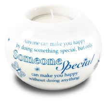 87792 Someone Special Porcelain Tealight Holder