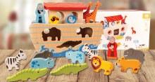 33999 Noah's Art Wooden Set with 16 figures