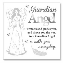 Guardian Angel Block Art Plaque