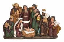 10028162 One Piece Nativity Scene 34 x 21 cm