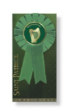 St Patrick Rosette with Harp