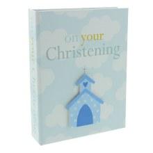 Blue Christening Boy Photo Album