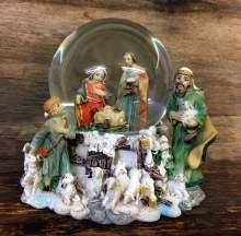 Holy Family with Shepherds Water Globe (10cm)