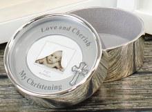 34970 Silver Plated My Christening Keepsake Box wi
