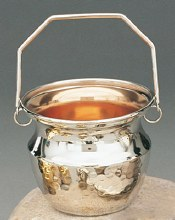 Holy Water Vat with Hammered Finish