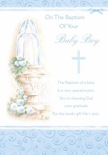 Baptism Boy Card