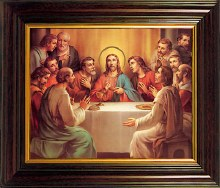 Last Supper Mahogany Framed Print (45 x 35cm)