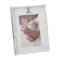 CG1096 Silver Plated Baby Frame with Teddy Icon
