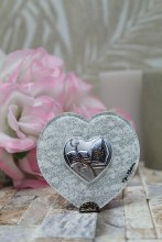 Confirmation Silver Heart Plaque  (7 x 6 cm)