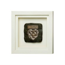 Love More Framed Bronze Plaque - Genesis