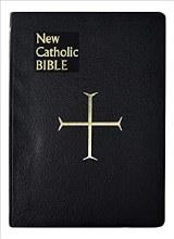 New Catholic Bible, Large Type, Imit Leather Black