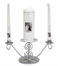Personalised Wedding Candle Set in Gift bag
