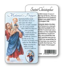 Motorist Prayer St Christopher Prayercard