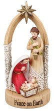 Peace on Earth Holy family Christmas Decoration (25cm)