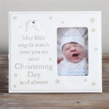 Cream Christening Cloud Frame
