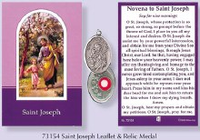 Novena to St Joseph with relic medal