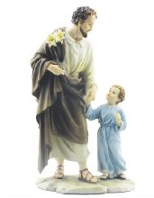 Veronese St Joseph and Child Statue (20cm)