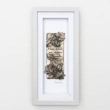 Tread Softly (Grey Frame) - Wild Goose Art (Lime)