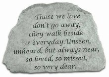 46720 Memorial Stone Those We Love 17 x 11 cm