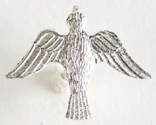 Confirmation Silver Dove on Tie Tack