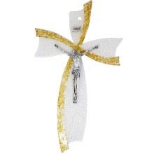 Gold Murano Glass Crucifix (47cm)