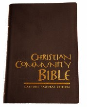 OP - Christian Community Bible, Black, Vinyl Stan