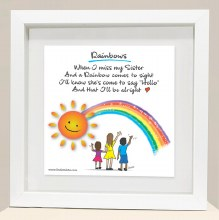 RB3 Sister Rainbows Framed Print