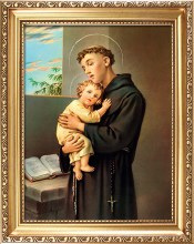 83629 St Anthony Gold Framed Picture 25 x 20 cm