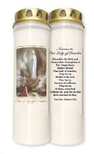 Our Lady of Lourdes 7 Day Piller Candle