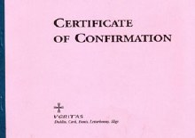 Book of Confirmation Certificates