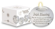 Irish Blessing Candle Holder and Candle