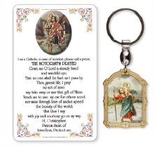 St Christopher Keyring and Prayercard