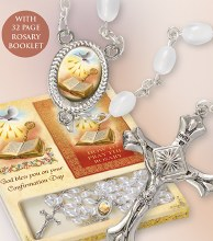 Confirmation Pearl Rosary and Booklet Set