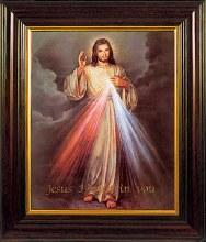Divine Mercy Mahogany Framed Print (45 x 35cm)