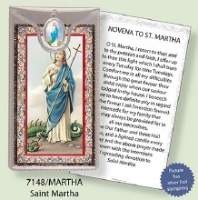 St Martha Prayercard and Medal